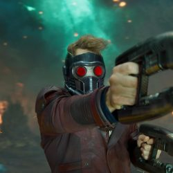 Guardians of the Galaxy Vol. 2., is expected in U.S. theatres May 5, 2017. Among companies contributing to special and visual effects to this Marvel/Disney production are: Southbay Motion Picture Technologies (stereoscopic 3D conversion), Animal Logic (visual effects), Captured Dimensions (3D scanning), Framestore CFC, Framestore, Greenhaus GFX, Legacy Effects (Special Character Make Up Effects and Robotic Suit Construction), Lola Visual Effects (Visual Effects), ScanlineVFX and Weta Digital. (Photo credit: Copyright (c) 2017 Marvel Studios/Walt Disney Pictures. All Rights Reserved.)