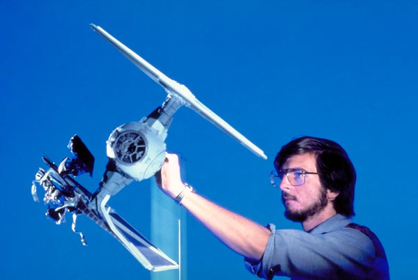 Ralston getting ready to shoot the asteroid damaged T.I.E. fighter in Star Wars: Episode V - The Empire Strikes Back.