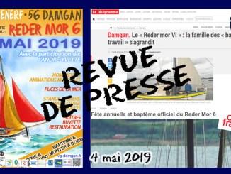 article rm6 4 mai 2019 revue de presse reder mor 6 damgan pénerf morbihan fête vieux gréement