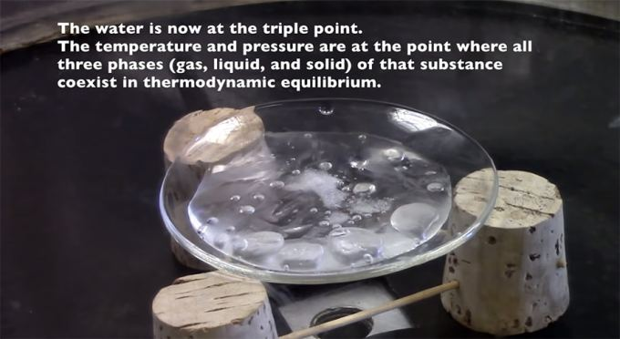 triple point of water demonstration