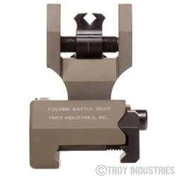 Troy BattleSight Rear Tritium Di-Optic Aperture(DOA) Folding FDE