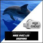 animation oculus Go nage avec les dauphins VGB EVENT
