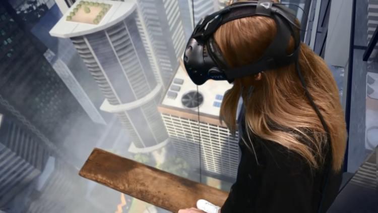 ritchi s plank jeu de la planche jeu en réalité virtuelle VR VGB EVENT Lyon Rhône-Alpes Paris France teambuilding seminaire anniversaire