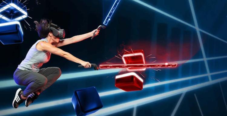 beat saber jeu de rythme musical jeu realité virtuelle animation vgb event Lyon Rhone Alpes France