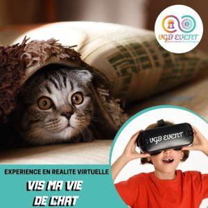 Vis ma vie de chat expériences en réalité virtuelle VGB EVENT Lyon Rhone alpes France