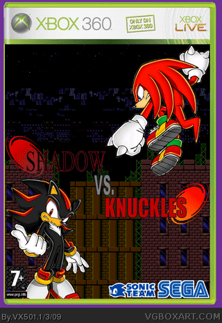 Shadow Vs Knuckles Xbox 360 Box Art Cover By VX501