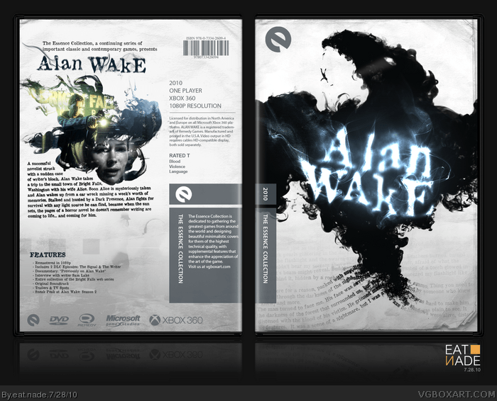 Alan Wake Xbox 360 Box Art Cover By Eat Nade