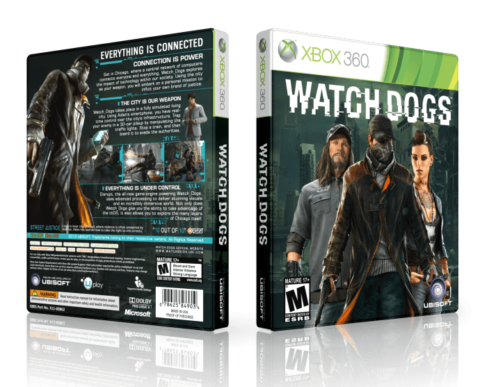 Watch Dogs Xbox 360 Box Art Cover By LastLight