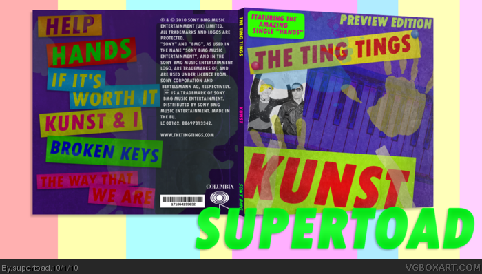 The Ting Tings Kunst Music Box Art Cover By Supertoad