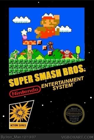 Super Smash Bros NES Box Art Cover By Iron Man