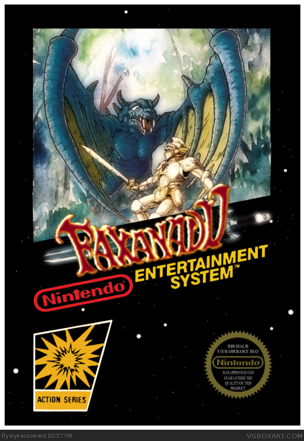 Faxanadu NES Box Art Cover By Eyescovered