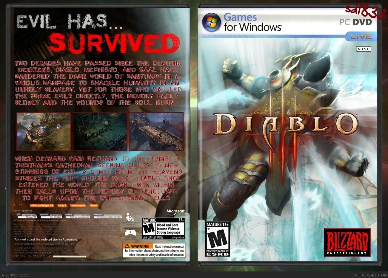 Diablo III PC Box Art Cover By Sd1833