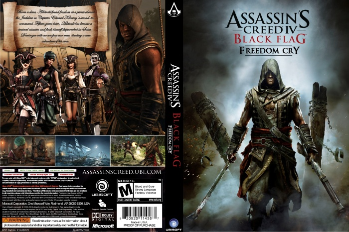 Assassins Creed IV Black Flag Freedom Cry PC Box Art Cover By Marceloche