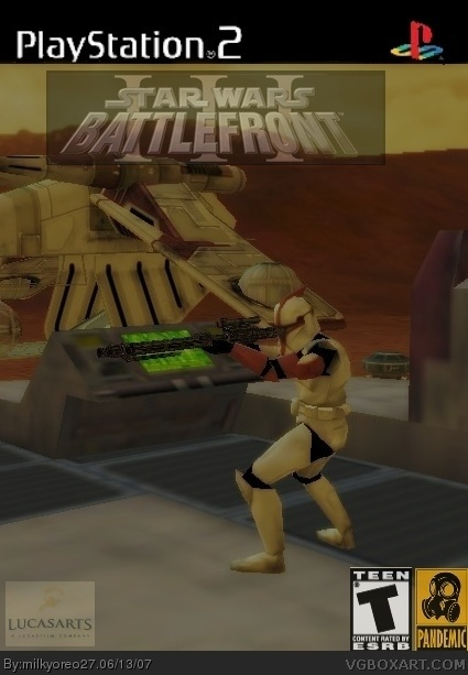 Star Wars Battlefront III PlayStation 2 Box Art Cover By Milkyoreo27