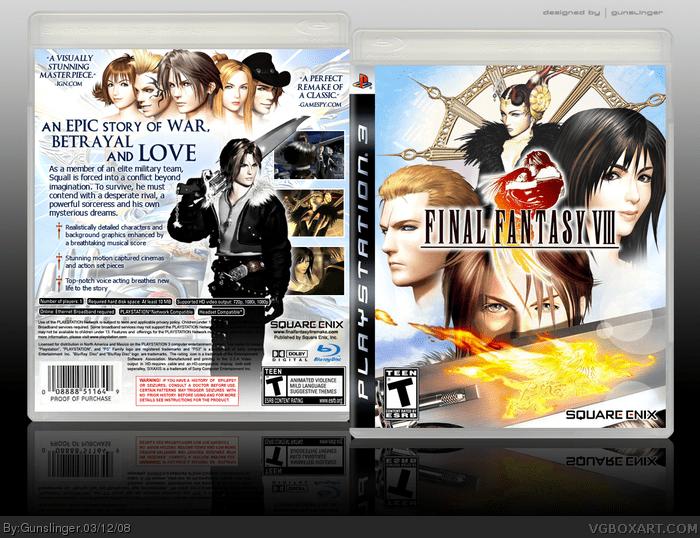 Final Fantasy VIII PlayStation 3 Box Art Cover By Gunslinger