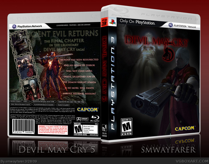 Devil May Cry 5 PlayStation 3 Box Art Cover By Smwayfarer