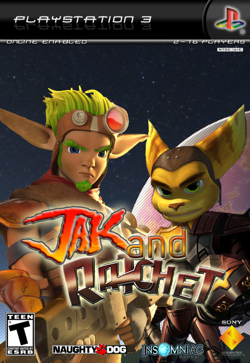 Jak And Ratchet PlayStation 3 Box Art Cover By WickedGamer1
