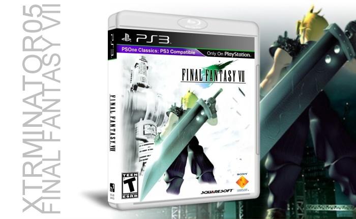 Final Fantasy VII PlayStation 3 Box Art Cover By Xtrminator05