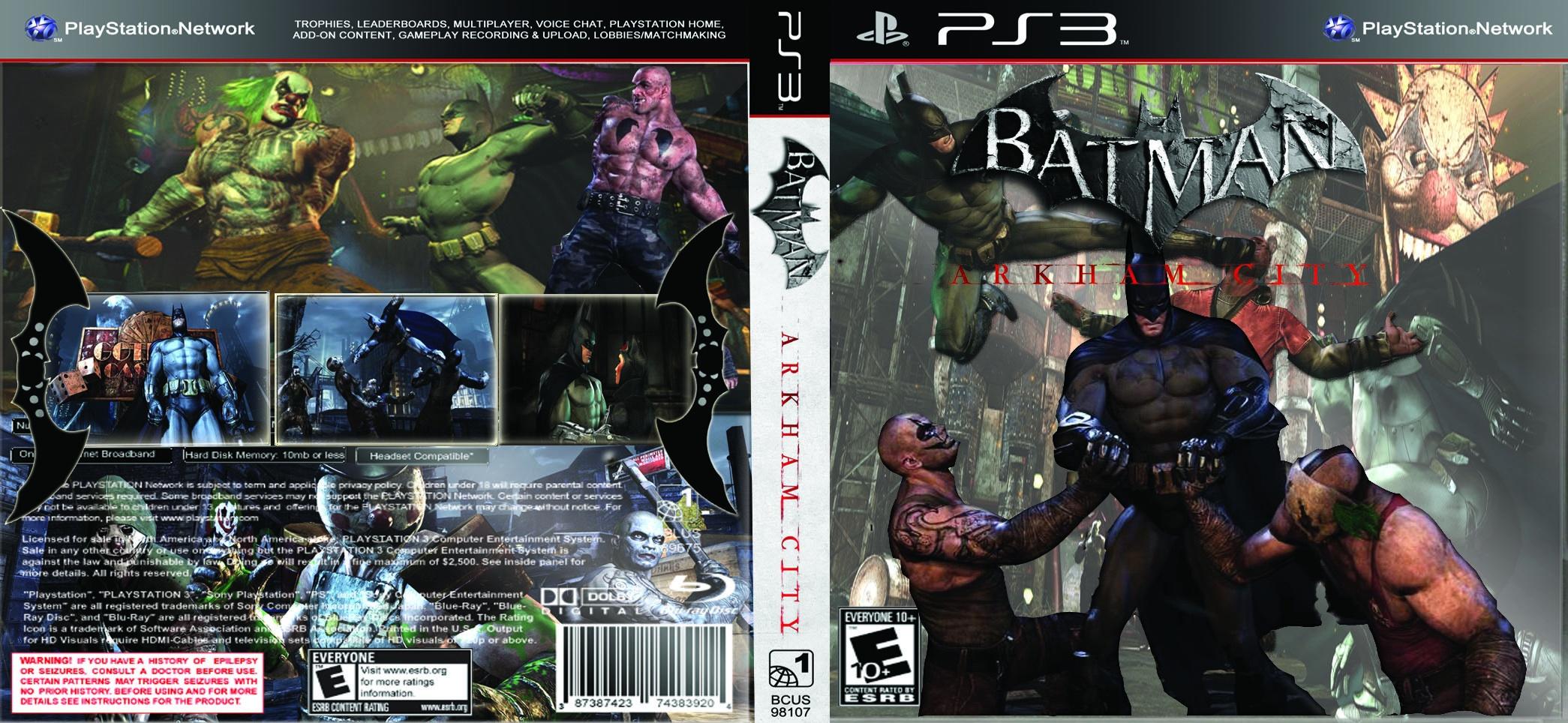 Batman Arkham City Dark Knight Edition PlayStation 3 Box Art Cover By Hugobij