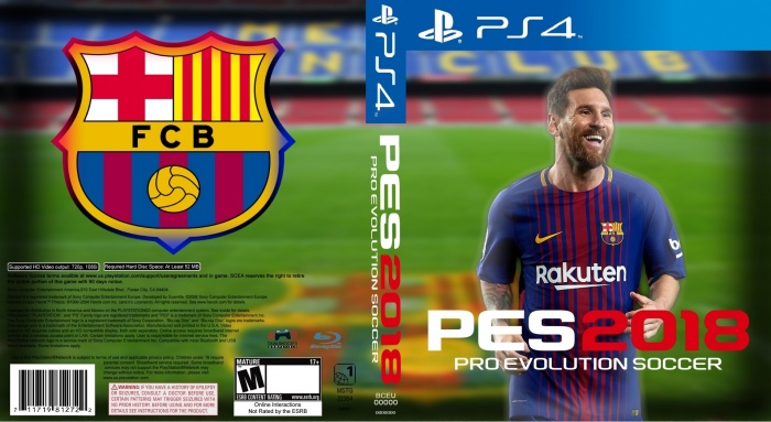 Pro Evolution Soccer 2018 PlayStation 4 Box Art Cover By Alex Gozdecki