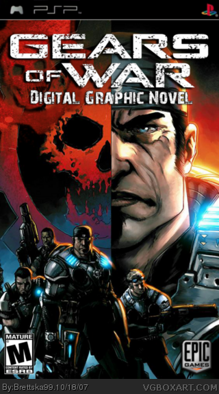 Gears Of War Digital Graphic Novel PSP Box Art Cover By