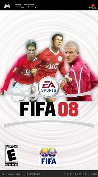 FIFA 08 PSP Box Art Cover By A Beast Of Art