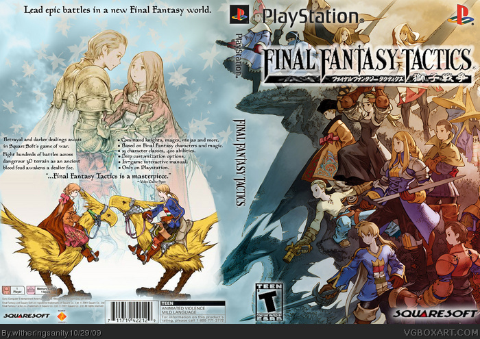 Final Fantasy Tactics PlayStation Box Art Cover By Witheringsanity