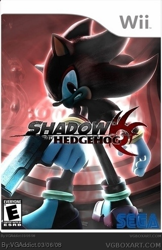 Shadow The Hedgehog Wii Box Art Cover By VGAddict
