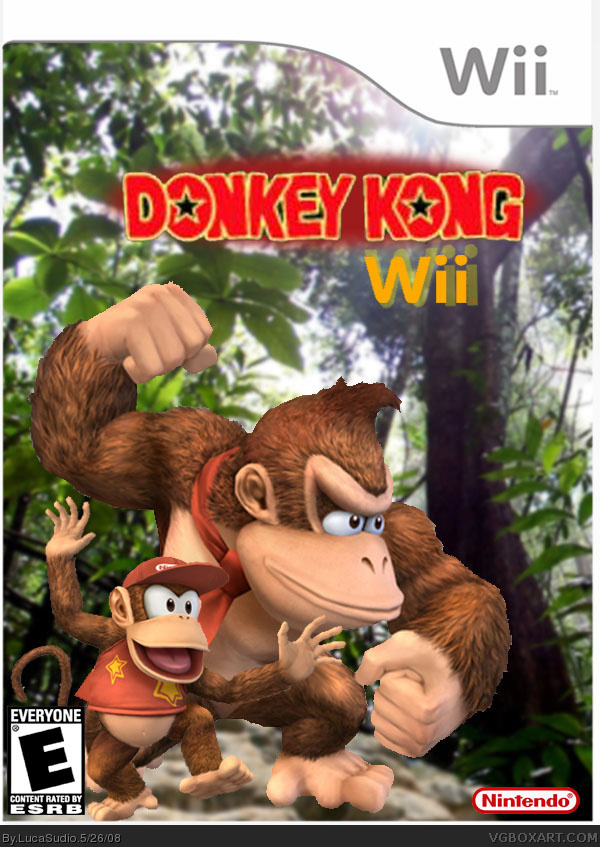Donkey Kong Wii Wii Box Art Cover By LucaSudio