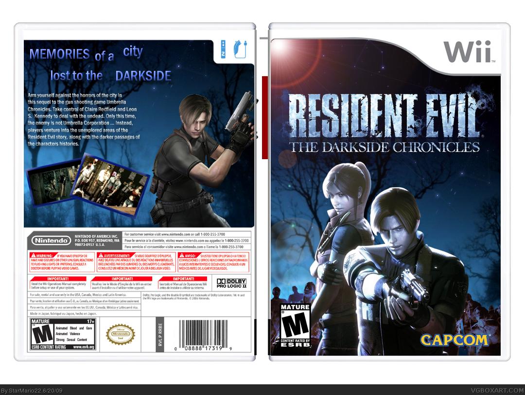 Resident Evil The Darkside Chronicles Wii Box Art Cover
