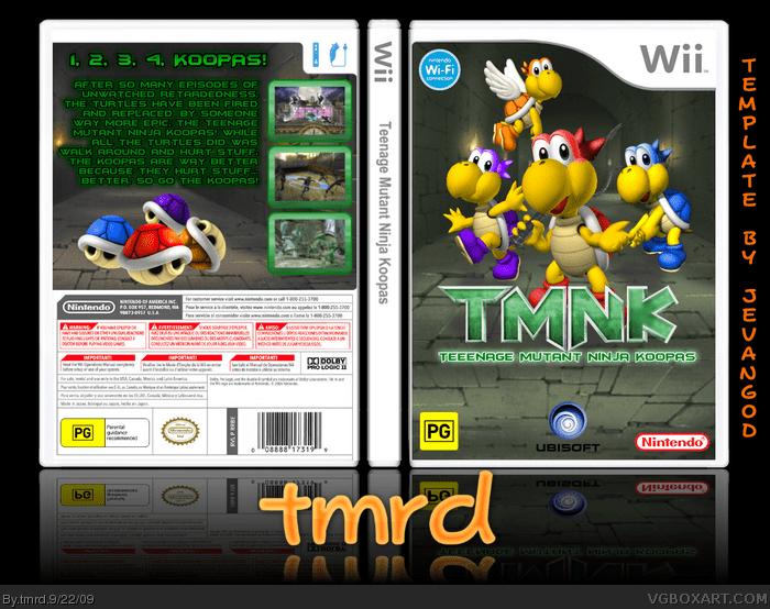 Teenage Mutant Ninja Koopa Wii Box Art Cover By Tmrd