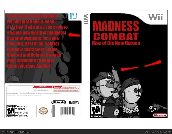 Madness Combat Rise Of The New Heroes Wii Box Art Cover By Nornan12