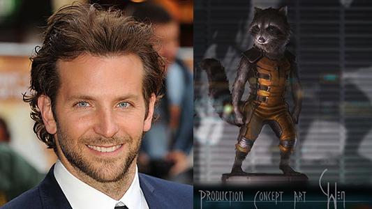 """Oficial: Bradley Cooper es Rocket Raccoon en """"Guardianes de la Galaxia"""""""