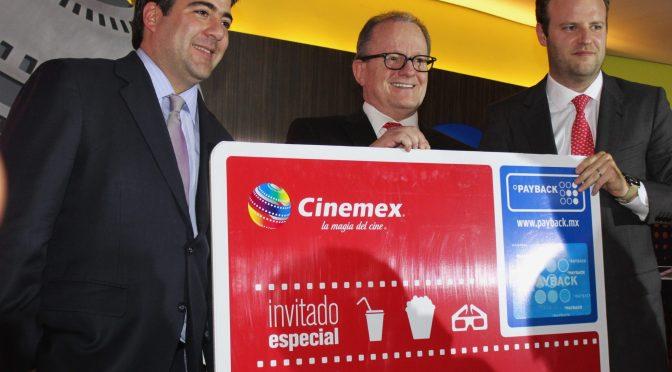 Cinemex y PAYBACK se unen para beneficiar a los amantes del cine