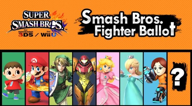 Super Smash Bros. WiiU/3DS – ¡Ya está cerrada la Fighter Ballot!