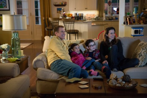 Left to right: Will Ferrell plays Brad Whitaker, Scarlett Estevez plays Megan, Owen Vaccaro plays Dylan, and Linda Cardellini plays Sara in Daddy's Home from Paramount Pictures and Red Granite Pictures
