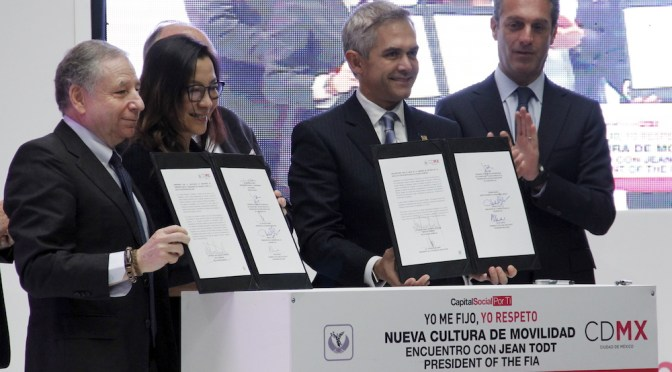 FIA y CDMX anuncian campaña 'Visión Cero Accidentes'
