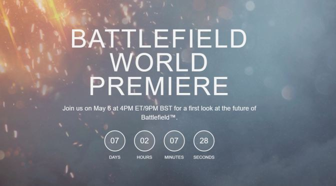 El nuevo Battlefield será revelado el 6 de mayo
