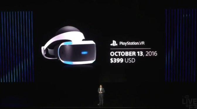 [E3 2016] ¡Ya tenemos fecha de lanzamiento para el PlayStation VR!