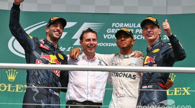 """<span class=""""entry-title-primary"""">Hamilton da golpe de autoridad en la casa de Rosberg: GP de Alemania 2016</span> <span class=""""entry-subtitle"""">Red Bull se convierte en el segundo mejor equipo</span>"""
