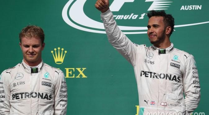 """<span class=""""entry-title-primary"""">El campeonato está vivo y Hamilton gana en Austin: GP de Estados Unidos 2016</span> <span class=""""entry-subtitle"""">Checo Pérez se pone séptimo en el Campeonato y Force India afianza su cuarta posición</span>"""