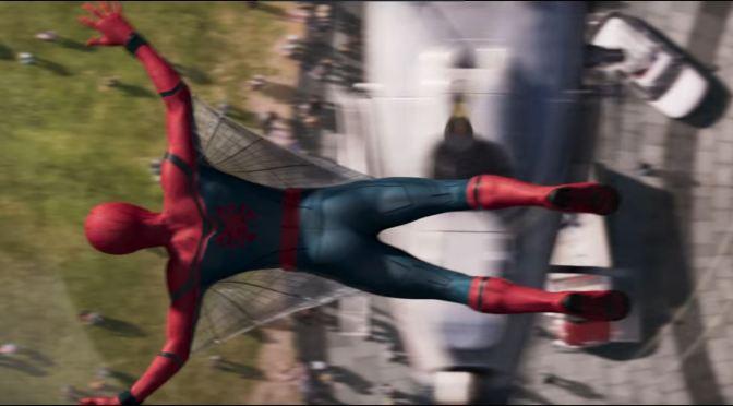 """<span class=""""entry-title-primary"""">Spidey en acción con su nuevo traje en el teaser de Spider-Man: Homecoming; mañana el trailer</span> <span class=""""entry-subtitle"""">¡Spidey puede volar!</span>"""