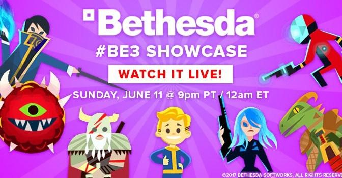 """<span class=""""entry-title-primary"""">[E3 2017] Disfruta aquí la conferencia de Bethesda en vivo</span> <span class=""""entry-subtitle"""">¿Ya tienen sus predicciones?</span>"""