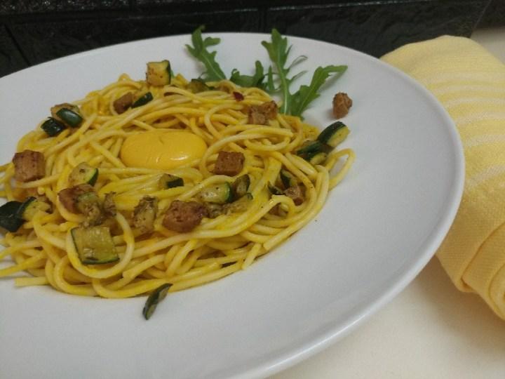 spaghetti carbonara vegan