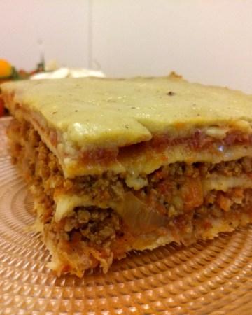 vegan gluten-free lasagna bolognese