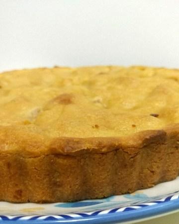 vegan nectarine pie with almond butter