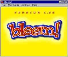 מסך הפתיחה היהיר והחצוף של Bleem