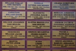 Wall of Remembrance (Plaque Samples)