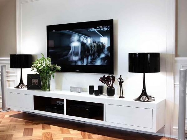 Тумбы под телевизоры в интерьере современных гостиных (28 ...