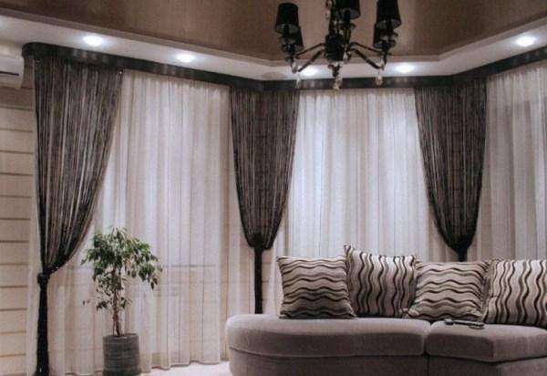Нитевые и нитяные шторы: кисея в интерьере гостиной 50 фото
